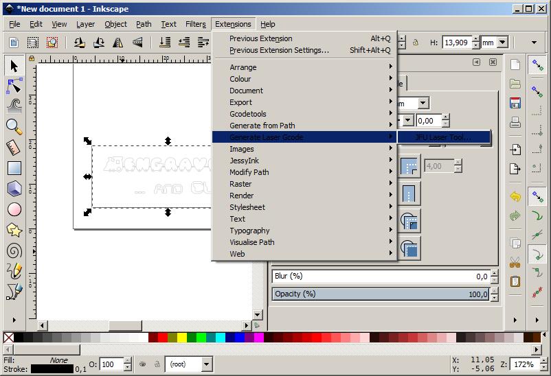 Laser Draw Inkscape Extension